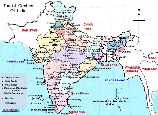 Maps Of India Travel Map Of India Tourist Maps Of India Historical